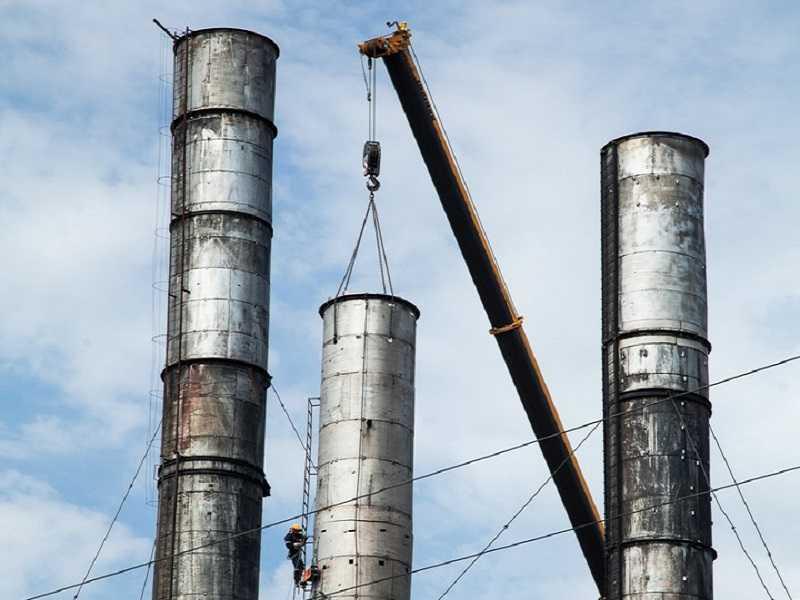 Демонтаж сооружений из металлоконструкций